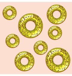 Color seamless pattern with donuts vector