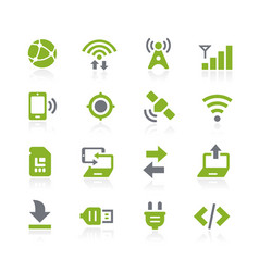 Connectivity icons natura series vector