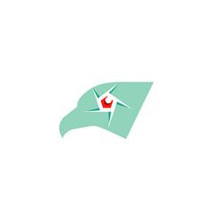 creative eagle camera logo vector image