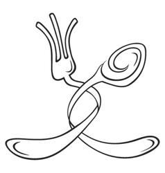 Cutlery symbol vector