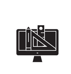 design tools black concept icon design vector image