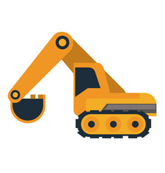 excavator construction vehicle vector image