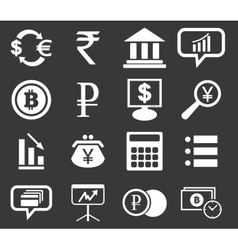 Finance icon set 1 monochrome vector image