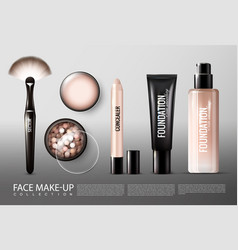 foundation cosmetology products collection vector image