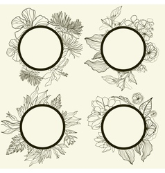 frames with flowers vector image vector image