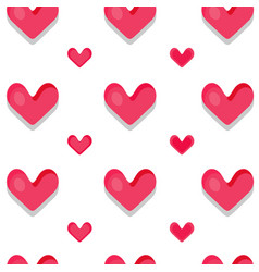 Funny seamless pattern with hearts vector