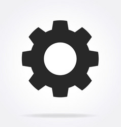 Gear cog service settings icon vector