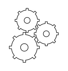 Gears collaboration work outline vector