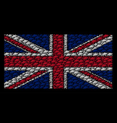 great britain flag mosaic of ufo items vector image