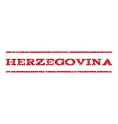 Herzegovina Watermark Stamp vector image