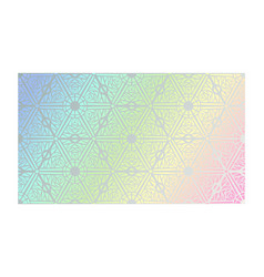 holographic texture with geometric foil tracery vector image
