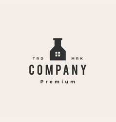 house lab hipster vintage logo icon vector image