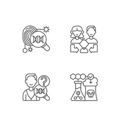 human reproduction linear icons set vector image