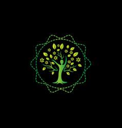 human tree design colorful tree logo design vector image