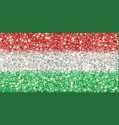 Hungary sparkling flag vector