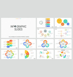 Large bundle of minimal infographic design vector