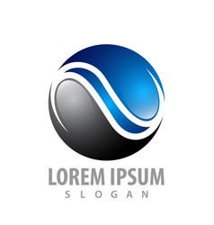 logo concept design circle wave line symbol vector image