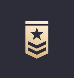 Military rank icon vector