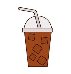 Milkshake drink isolated icon vector