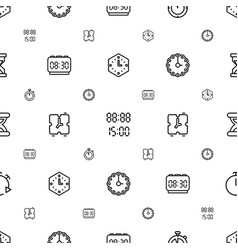 minute icons pattern seamless white background vector image