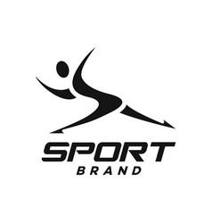 Modern man and sport logo vector