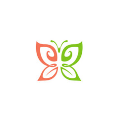 Nature fly logo vector