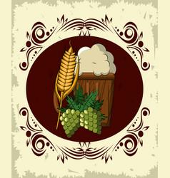 oktoberfest round emblem vector image