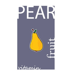 pear fruit color vector image