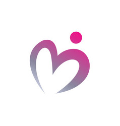 People and love logo template vector