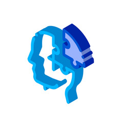 puzzle detail man silhouette headache isometric vector image