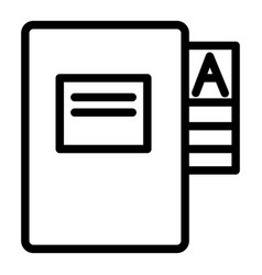 Questionnaire folder line icon form doll vector