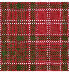 Red kilt tartan vector
