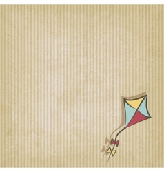 retro background with kite vector image
