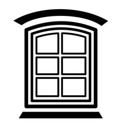 Retro window frame icon simple black style vector
