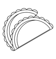 Savory patty icon outline style vector