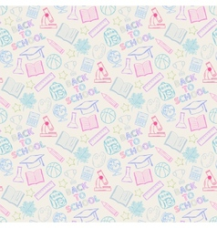 seamless pattern school color vector image