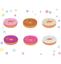 Set of appetizing donuts vector