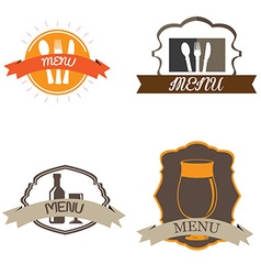 Set of menu designs vector image