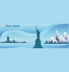 silhouette new york vector image