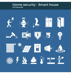 Smart home icons vector