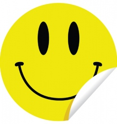Smiley sticker vector