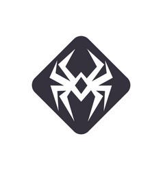 Spider logo simple minimalist modern design vector
