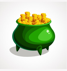 st patrick s day cauldron vector image