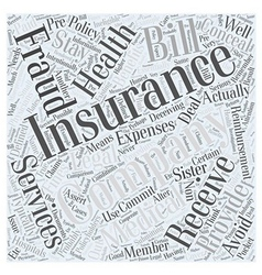 Stay Legal Avoiding Insurance Fraud Word Cloud vector
