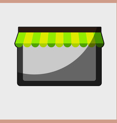 Store window icon vector