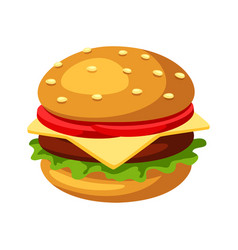 stylized hamburger or cheeseburger vector image