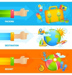 Summer Vacation Banner Set vector