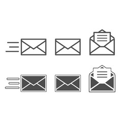 Symbols of receiving mail opening envelope vector