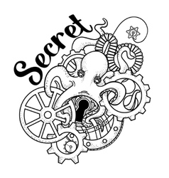 The original of Steampunk octopus vector image