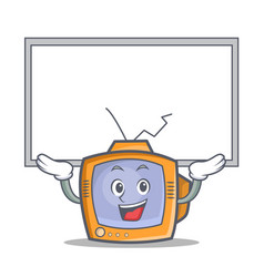 up board tv character cartoon object vector image